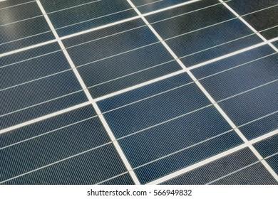 Close up Solar panels background.
