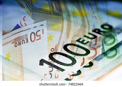close up of some 100 and 50 euro bills