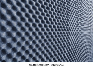 close up sound absorbing sponge in music studio