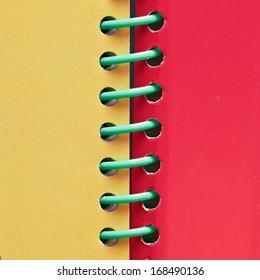 Close up of a spiral bound book