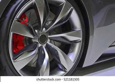 Close up Sport Car Wheel.