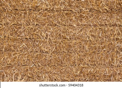 close up of a square hay bale