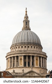 Close up of St Paul's Cathedral dome in London, United Kingdom.