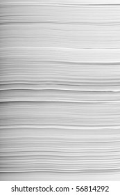 close up of stack of papers