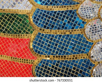Close up stained glass abstract backgrounds