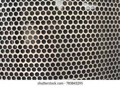 Close up steel / iron honey comb for texture or background
