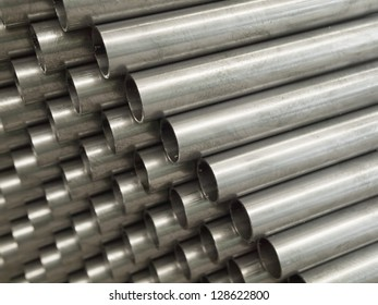 Close up Steel Pipe for use in directors furniture