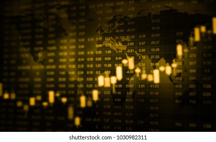 close up stock or forex chart and data market exchange.