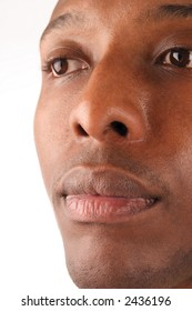 A close up stock image of an African American man.