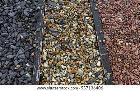 Close Up Of Stone And Gravel Pebbles For Garden Landscaping