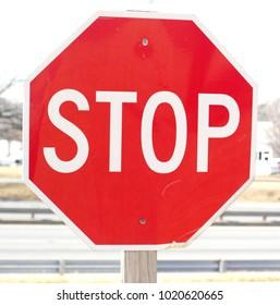 Close up of Stop sign