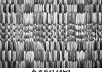 Close up of a straw mat as a background