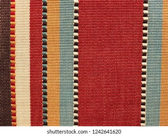 Close up of striped fabric