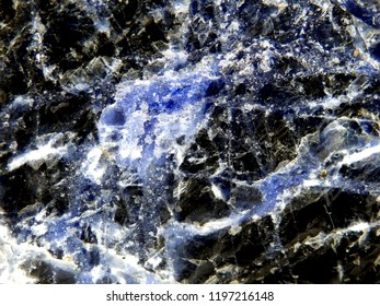 Close up of the structure of Lapis Lazuli