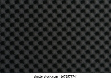 Close up of studio acoustic foam rubber wall pattern.