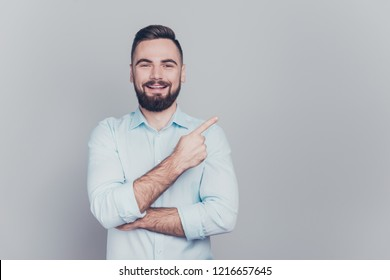 56fd5e207e2 Close up studio photo portrait of attractive excited nice cool modern ceo  freelancer entrepreneur banker employer