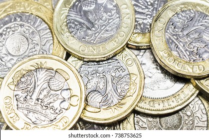 Close Up Study of New British Coins