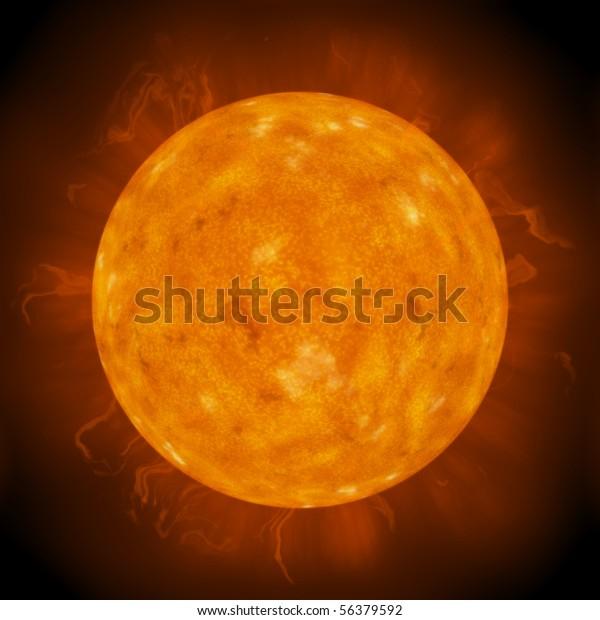 Close up of the sun
