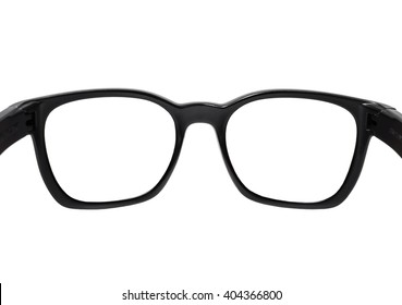 Close up sunglasses rear view, isolated on white background