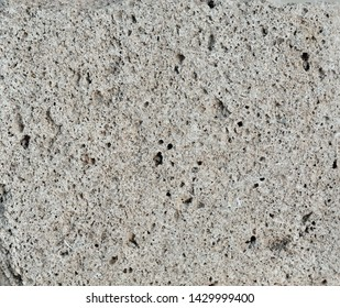 A close up of the surface of pumice stone.