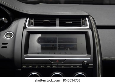 The close up of SUV car dashboard.