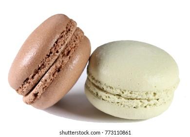 Close up of sweet macaron