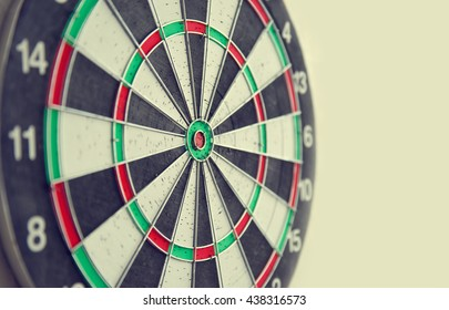 Close up target for darts. Goal concept.