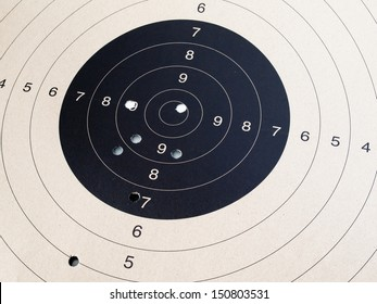 Close up of target shooting