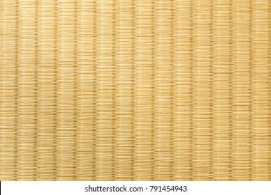 close up of tatami, japanese traditional room floor matt, showing craftmanship and design