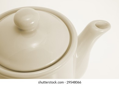 Close Up of Teapot on Seamless Background