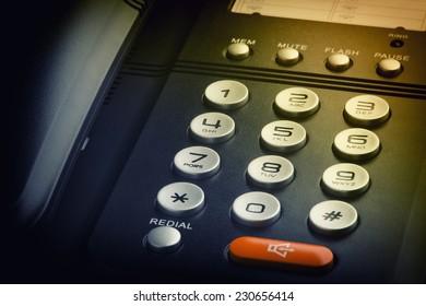 close up telephone