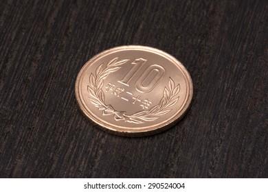 close up of ten yen