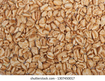 Close up texture of aerial wheat grains