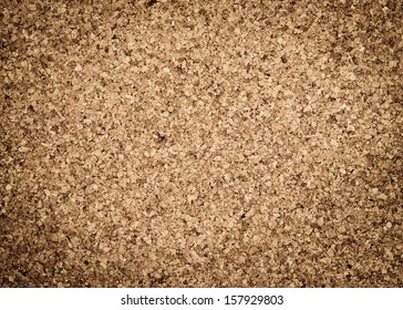 Close Up Texture  Color Detail  of Surface Cork Board Wood  Background,  Nature Product Industrial