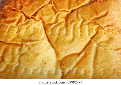 Close up texture of pastry in horizontal composition