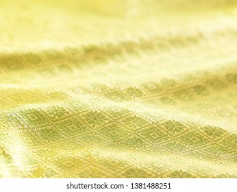 close up texture of  songket - Shutterstock ID 1381488251