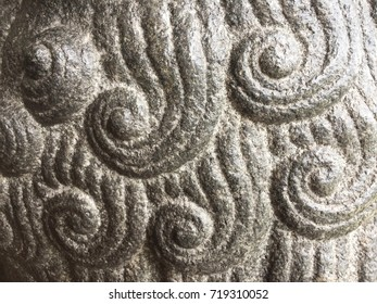 Close up textures of The Chinese Stone Figures, stone carving.