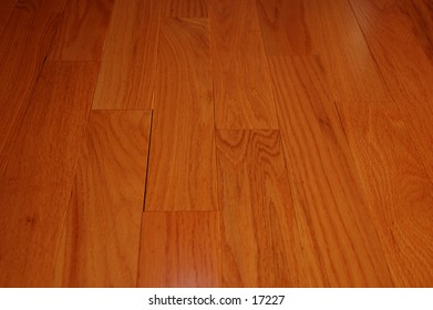 close up of the textures in a hardwood floor