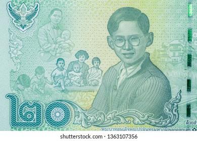 Close up Thai banknotes, Macro 1:1 photography..