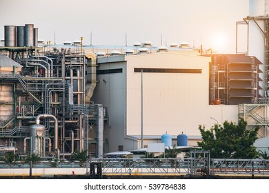 Close up the thermal power plant,Energy power station,industry on sunset.