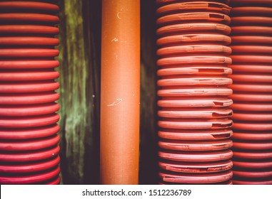 Close up of thermoplastic, or thermosoftening plastic, Is a plastic polymer material that becomes pliable or moldable at a certain elevated temperature and solidifies upon cooling.