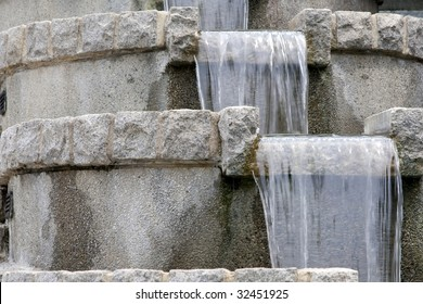 Close Up of a tiered garden fountain