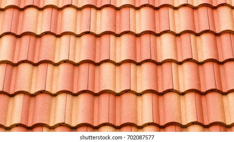 Close up tile roof texture.