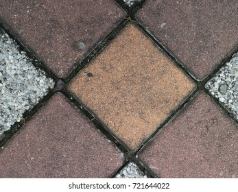 A close up of the tiles