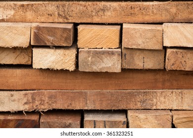 close up of timber wood construction in warehouse