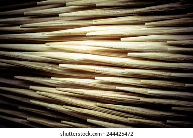 Close up Toothpick macro background