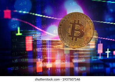 Close up of top important cryptocurrencies which dollar bank note in background. which including of Bitcoin, Ethereum, Xrp, Dash, Btc and Ripple coin. Business and financial as concept.