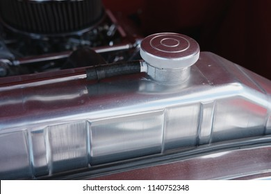 Close up  Top of Radiator on a High Performance Engine