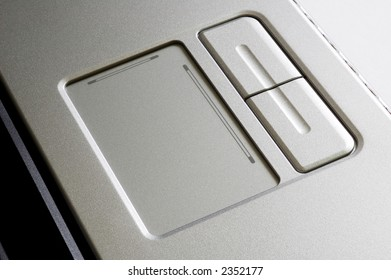 A close up of touch pad of laptop