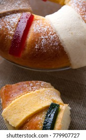 Close up of traditional kings day bread